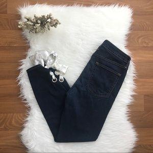 Good American Good Waist Ribbon Ankle Jeans